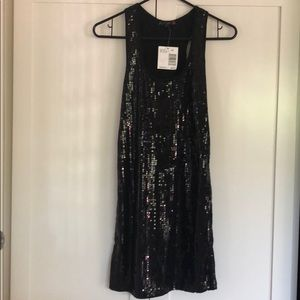 Guess Jet Black Sequined Dress